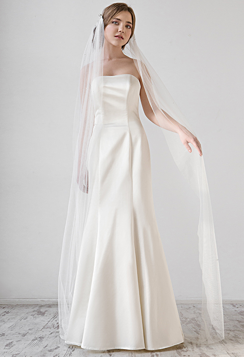Свадебное платье из шелка VICTORIA SPIRINA